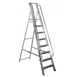 8 Tread Werner Class 1 Shop Step with Handrails