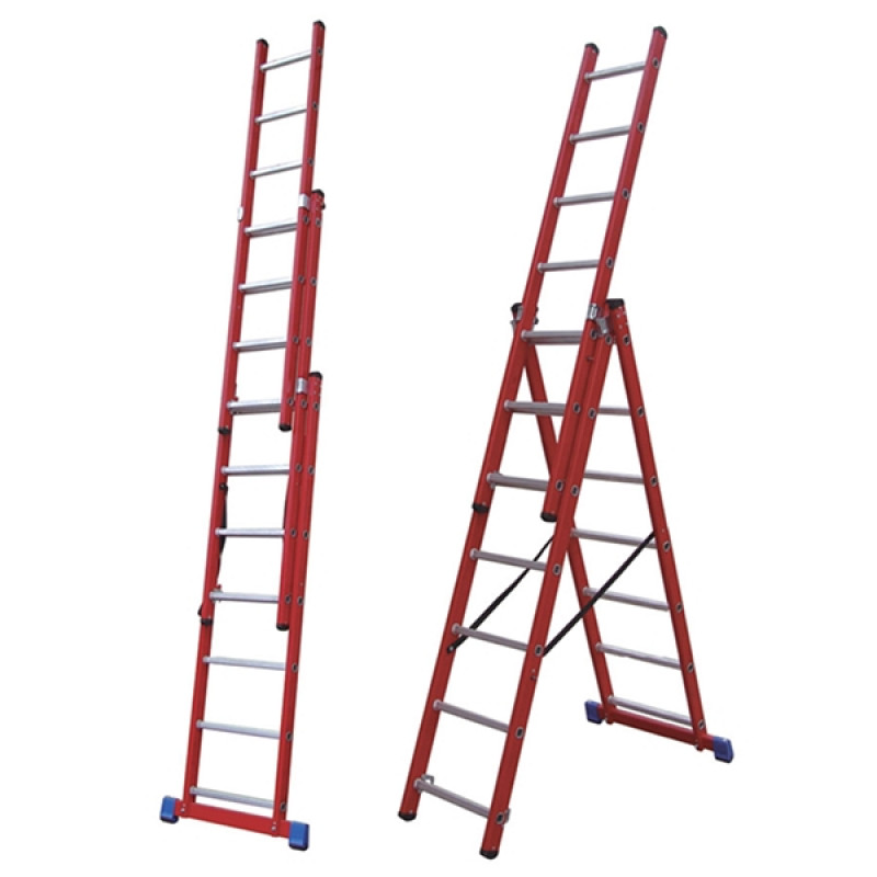 7 Rung Fibreglass Combination Ladder