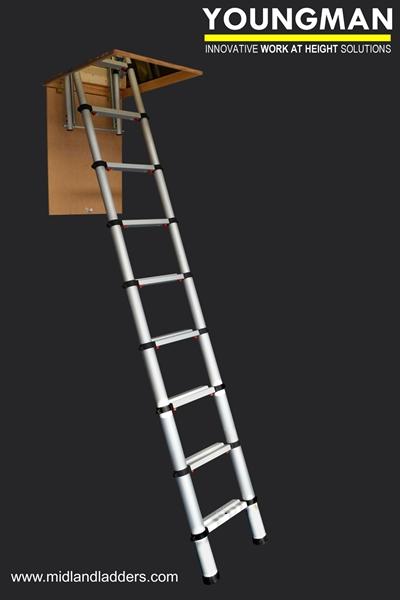 Youngman Telescopic Loft Ladder 2 6m